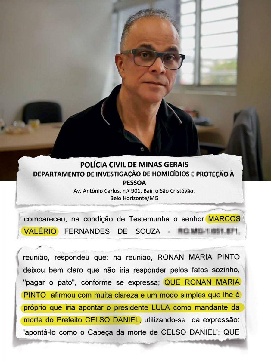 A Revista Veja publicou a acusação de Valério contra Lula.