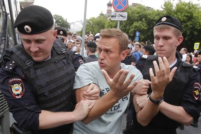 Em 2019, mais de 200 manifestantes foram presos em protesto pela prisão de jornalista russo