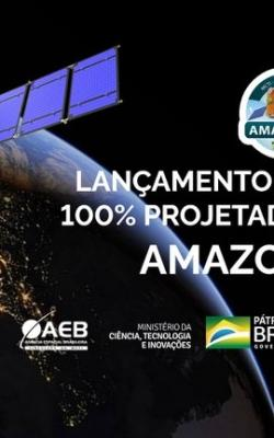 O satélite brasileiro Amazônia 1 será lançado dia 28/02 com transmissão ao vivo pelo MCTI