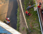 Cadeirante morre após ser jogado de viaduto no Rio Bauru em tentativa de assalto