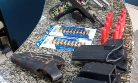 PM prende homem com armas e munições em Boa Esperança, Rio Bonito