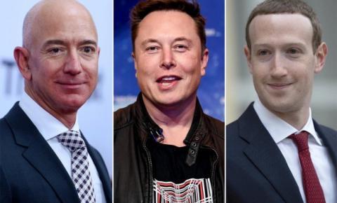 Mark Zuckerberg, Jeff Bezos, Elon Musk e outros magnatas supostamente ganharam mais de US $ 360 bilhões durante a pandemia
