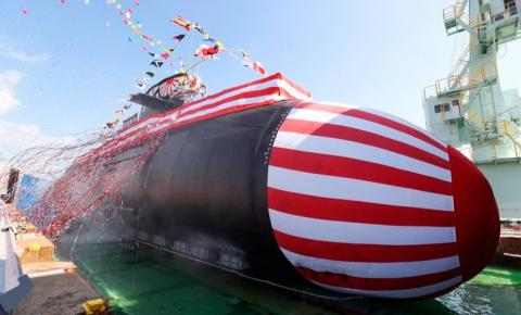 Japão revelou um novo submarino em meio a conflitos marítimos com a China